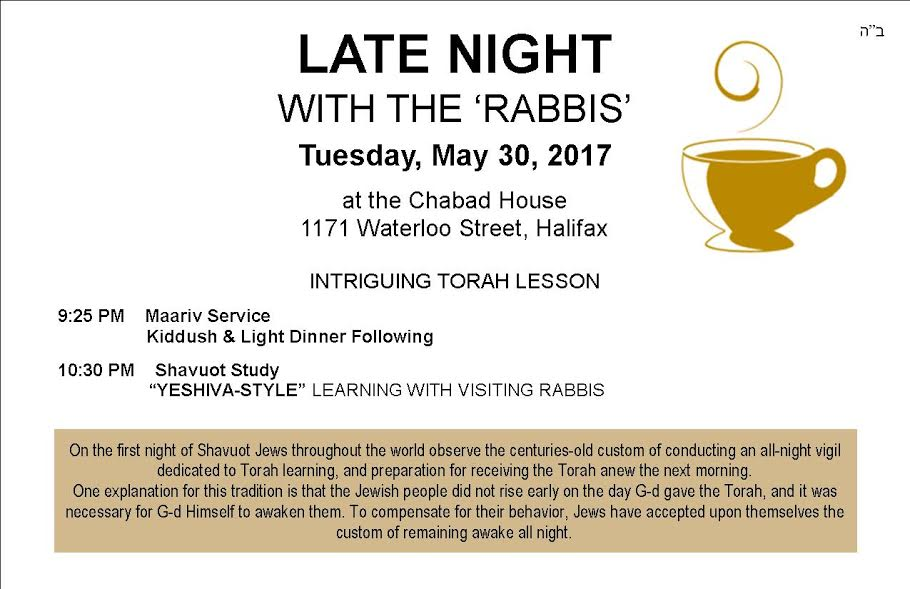 LATE NIGHT WITH THE 'RABBIS'