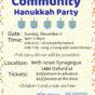 Community Hanukkah Party
